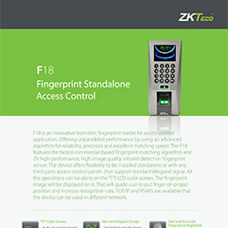 ZKTeco - Fingerprint Standalone Access Control